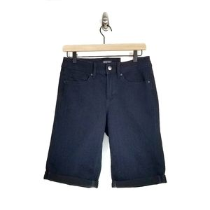 NYDJ Shape Shorts Rolled Hem Bermuda Modest